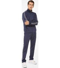 mk pantaloni da tuta in tessuto scuba con fettuccia con logo - notte (blu) - michael kors