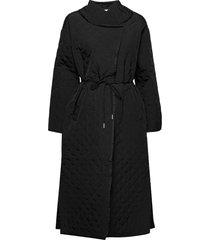 yaklyniw coat doorgestikte jas zwart inwear