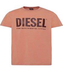 polera t diego logo t shirt rojo diesel