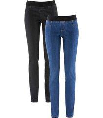jeggings elasticizzati comfort (pacco da 2) (blu) - john baner jeanswear