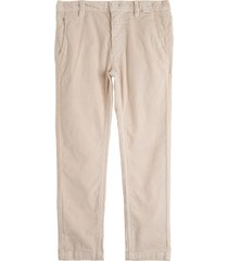 il gufo beige cotton ribbed trousers
