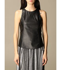 armani exchange top armani exchange synthetic leather top