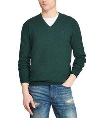 chaleco slim fit cotton v-neck verde polo ralph lauren