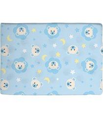 travesseiro antissufocante azul estampado ursinho - azul - dafiti