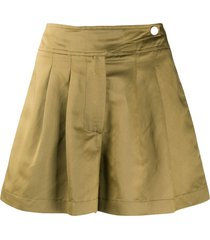 8pm high-waisted pleated skort - green