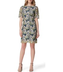 women's tahari embellished lace sheath dress