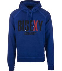 man blue bisexy dsquared2 hoodie