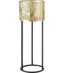 kwietnik metalowy osłonka na stelażu leaf 50 cm