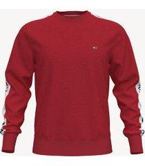 tommy hilfiger men's logo tape sweatshirt red - xl