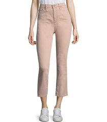 ag jeans women's isabelle high-rise crop jeans - rogue - size 23 (00)