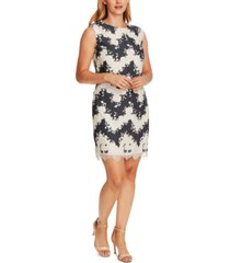 vince camuto mixed-media shift dress