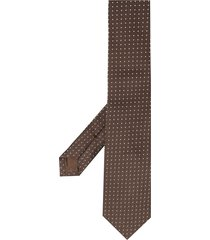 church's square embroidered tie - brown