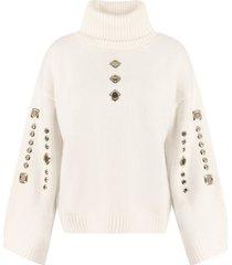 pinko guyana ribbed turtleneck sweater
