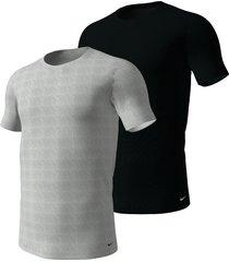nike 2-pack t-shirts crew neck zwart/grijs - 9jn