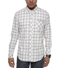 sean john men's grid pattern flannel shirt