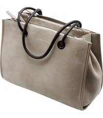 brunello cucinelli suede handbag with double compartment with zip closure measures31 x 22 x 12 cm