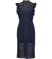 dress knälång klänning blå rosemunde