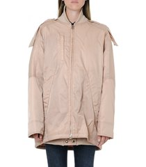acne studios light pink nylon down jacket