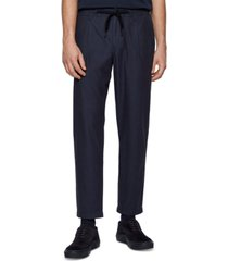 boss men's tapered-fit drawstring trousers