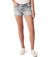 silver jeans co. elyse mid-rise jean shorts