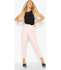 mix & match toelopende broek met ceintuur, blush