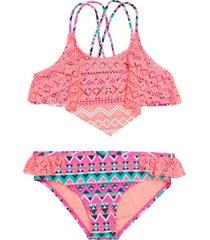 bikini crochet uv30 naranja h2o wear