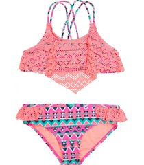 bikini crochet uv30 naranja h2o wear
