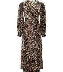 leopard-printed wrap dress