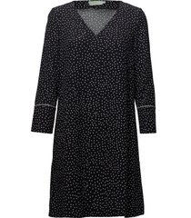 éve print dress kort klänning svart morris lady