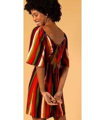 vestido curto viscose estampa cerrado feminino - feminino