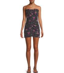 for love & lemons women's every rose sequin strapless dress - black - size l