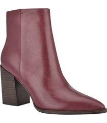 women's nine west bryson block heel bootie, size 7 m - burgundy