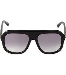 54mm chain detail aviator sunglasses