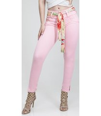 jeans levanta cola rosado fascinate