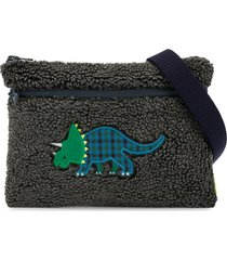 familiar textured dinosaur shoulder bag - grey