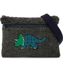 familiar textured dinosaur shoulder bag - grey