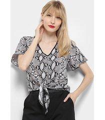 blusa aishty amarração feminina