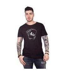 camiseta 4 ás silkada masculina