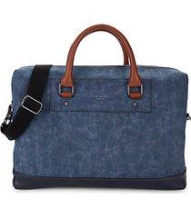 contrast-handle messenger bag