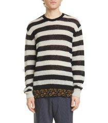 men's dries van noten jevanna stripe crewneck sweater