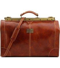 tuscany leather tl1022 madrid - borsa da viaggio in pelle - misura grande miele