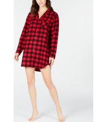 charter club cotton flannel sleep shirt, created for macy's