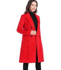 abrigo cuatro botones  rojo nicopoly