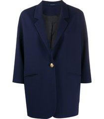 tagliatore 3/4 sleeve blazer - blue