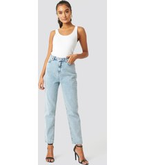 trendyol high waist mom jeans - blue
