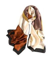 pashmina echarpe lenço artestore 180x90 quadrados feminino