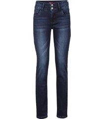 jeans elasticizzati con effetto modellante slim (blu) - john baner jeanswear