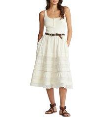 polo ralph lauren women's henley sleeveless contrast dress - antique cream - size 0