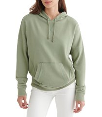 women's lucky brand drawstring hoodie, size small - green