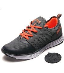 tenis lifestyle gris-naranja fila kole